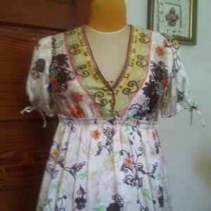 Just In 100% Silk Paisley Print Dress
